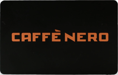 Caffe Nero gift card design and art work