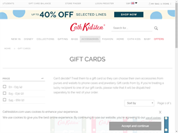 Cath Kidston gift card purchase