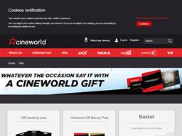 Cineworld gift card purchase