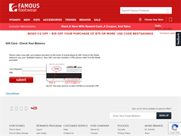 Famous Footwear gift card balance check