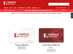 Famous Footwear gift card purchase