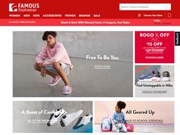 Famous Footwear shopping