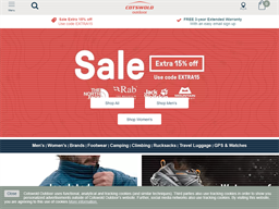 Cotswold Outdoor shopping