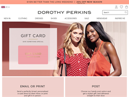 Dorothy Perkins gift card purchase