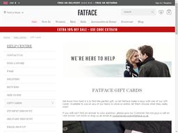 Fat Face gift card balance check