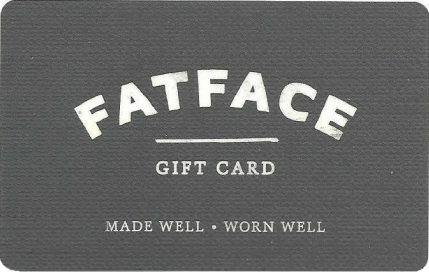 Fat Face gift card design and art work
