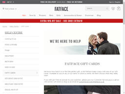Fat Face gift card purchase