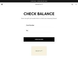 Gant gift card balance check