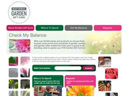 Garden Gift Card gift card balance check