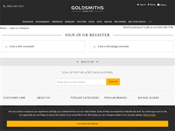 Goldsmiths gift card balance check