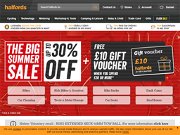 Halfords shopping
