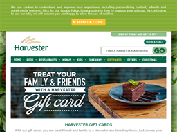 Harvester gift card purchase