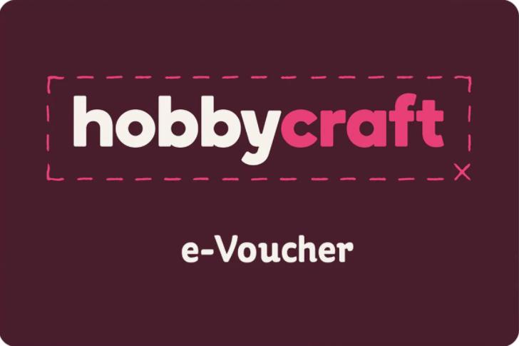 Hobbycraft gift card design and art work