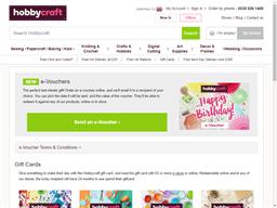 Hobbycraft gift card purchase