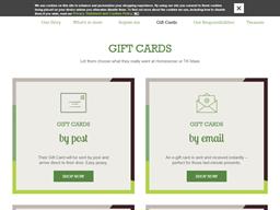Homesense gift card purchase