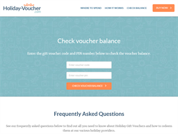 Holiday Voucher gift card balance check