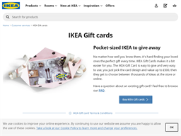 Ikea gift card purchase