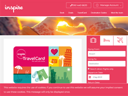Inspire Travel Card gift card purchase