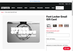 Foot Locker gift card purchase