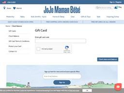 JoJo Maman Bebe gift card balance check