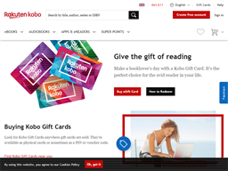 Rakuten Kobo gift card purchase