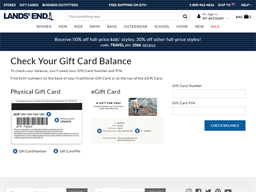 Lands' End gift card balance check