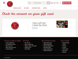 L'Atelier Des Chefs gift card balance check