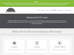 Meadowhall Shopping Centre gift card purchase