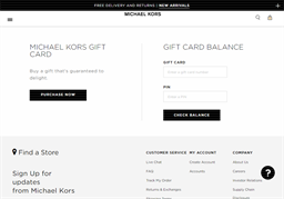 MICHAEL KORS gift card purchase