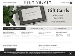 Mint Velvet gift card purchase