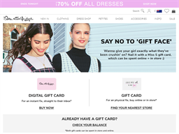 Miss Selfridge gift card purchase