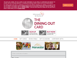 Mitchells & Butlers Dining out gift card purchase