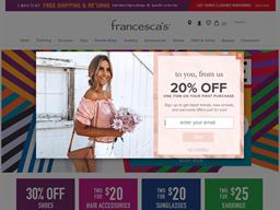 Francesca's shopping