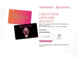 Monsoon gift card balance check