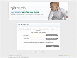 Mothercare gift card balance check