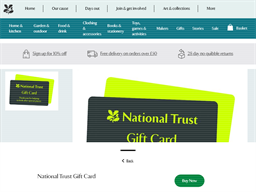 National Trust Shop gift card purchase