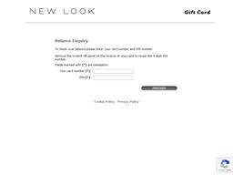 New Look gift card balance check