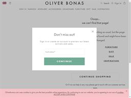 Oliver Bonas gift card balance check