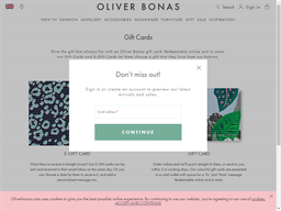 Oliver Bonas gift card purchase