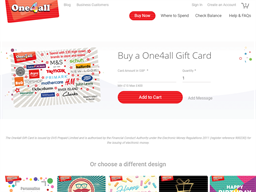 One4all gift card purchase