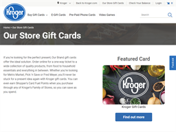 Fry's Food Stores gift card purchase