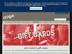 O'Neill's Irish Pubs gift card purchase