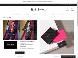 Paul Smith gift card purchase