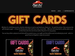 Pizza Hut gift card balance check