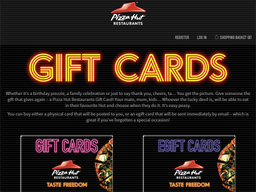 Pizza Hut gift card purchase