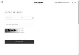 Pull and Bear gift card balance check