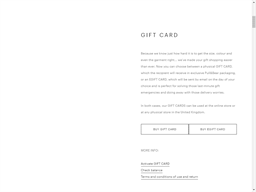 Pull and Bear gift card purchase