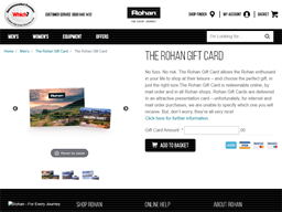 Rohan gift card purchase