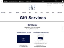 Gap gift card balance check