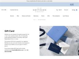 Smythson gift card balance check